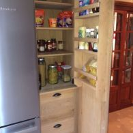 Solid Oak Handmade Builtin Kitchen Cupboard