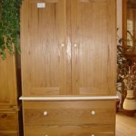 Modern Oak Freestanding Wardrobe